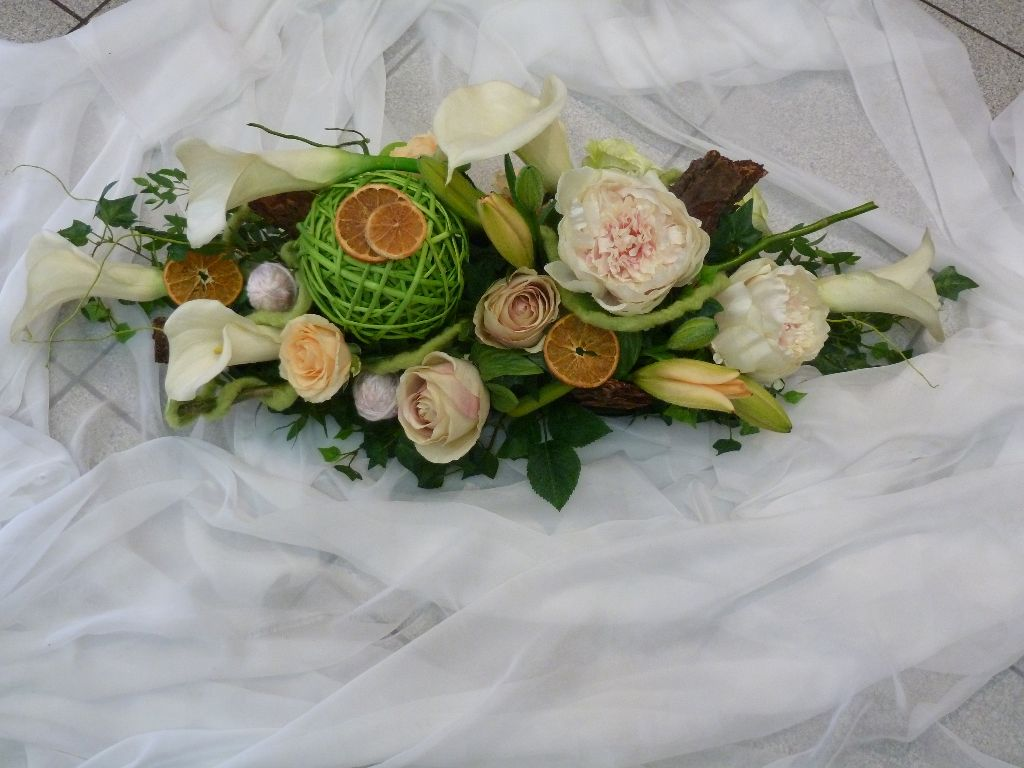 Compositions florales cr afleurs - Composition florale table mariage ...